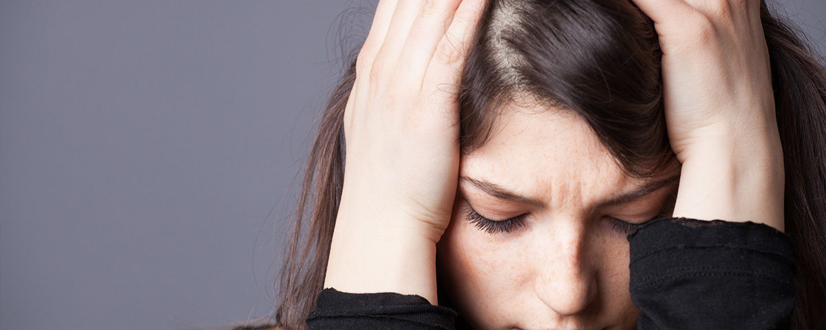 woman combating anxiety in detox