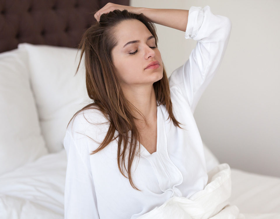 woman stressed during 1st week of treatment