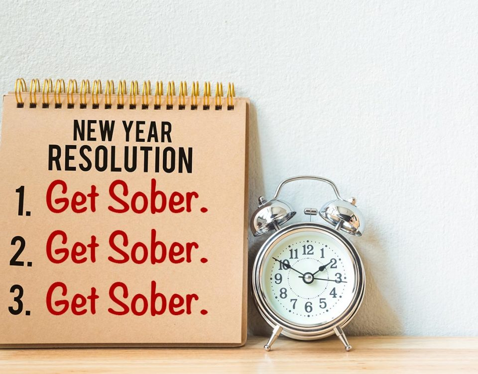 new year resolution- get sober list